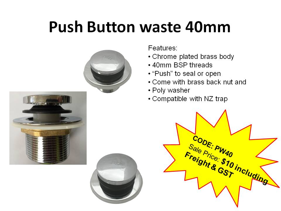 Push Button waste 40mm